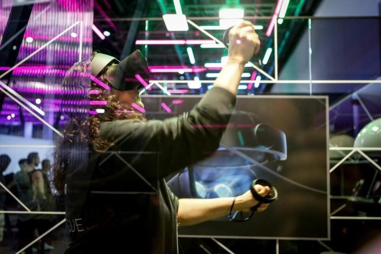 """Facebook's virtual reality unit Oculus has unveiled a new """"social space"""" for users called Horizon (AFP Photo/Amy Osborne)"""