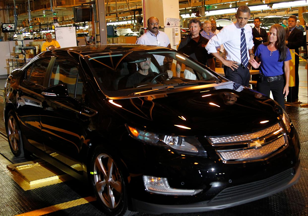 President Barack Obama loved to talk about the Volt and his administration took steps to support vehicles like it.  (Photo: ASSOCIATED PRESS)
