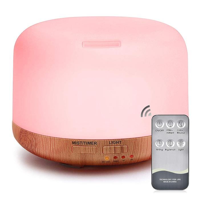"""<strong><h3><a href=""""https://amzn.to/2OkoGDm"""" rel=""""nofollow noopener"""" target=""""_blank"""" data-ylk=""""slk:Essential Oil Diffuser"""" class=""""link rapid-noclick-resp"""">Essential Oil Diffuser</a></h3></strong> <br>Add some joint self-care to your SO routine with this ceramic diffuser that's crafted to softly stream essential oils and moisture into the dry winter air.<br><br><strong>mixigoo</strong> Essential Oil Air Mist Diffuser, $, available at <a href=""""https://amzn.to/2OkoGDm"""" rel=""""nofollow noopener"""" target=""""_blank"""" data-ylk=""""slk:Amazon"""" class=""""link rapid-noclick-resp"""">Amazon</a><br>"""