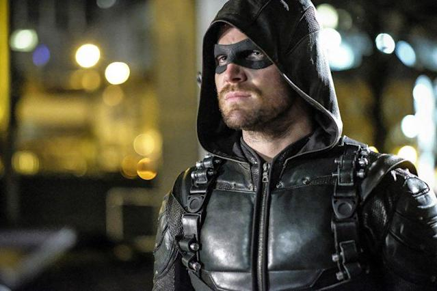 Stephen Amell as Oliver Queen/The Green Arrow in The CW's <i>Arrow</i>. (Photo: Robert Falconer/The CW)