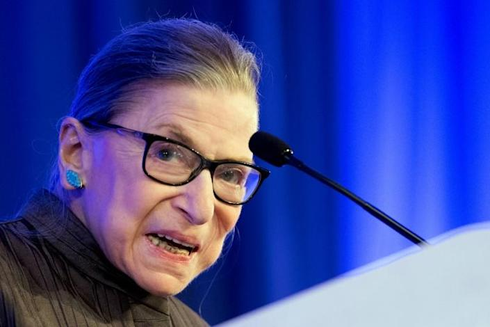 US Supreme Court Justice Ruth Bader Ginsburg is undergoing chemotherapy for a recurrence of cancer (AFP Photo/JIM WATSON)