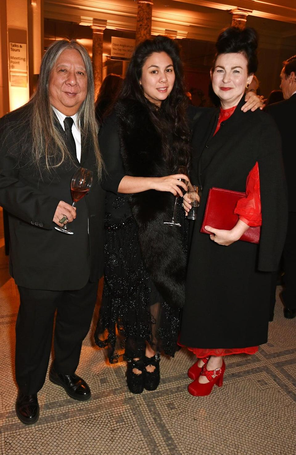 Simone Rocha with her father John and mother Odette (Dave Benett for Getty images)