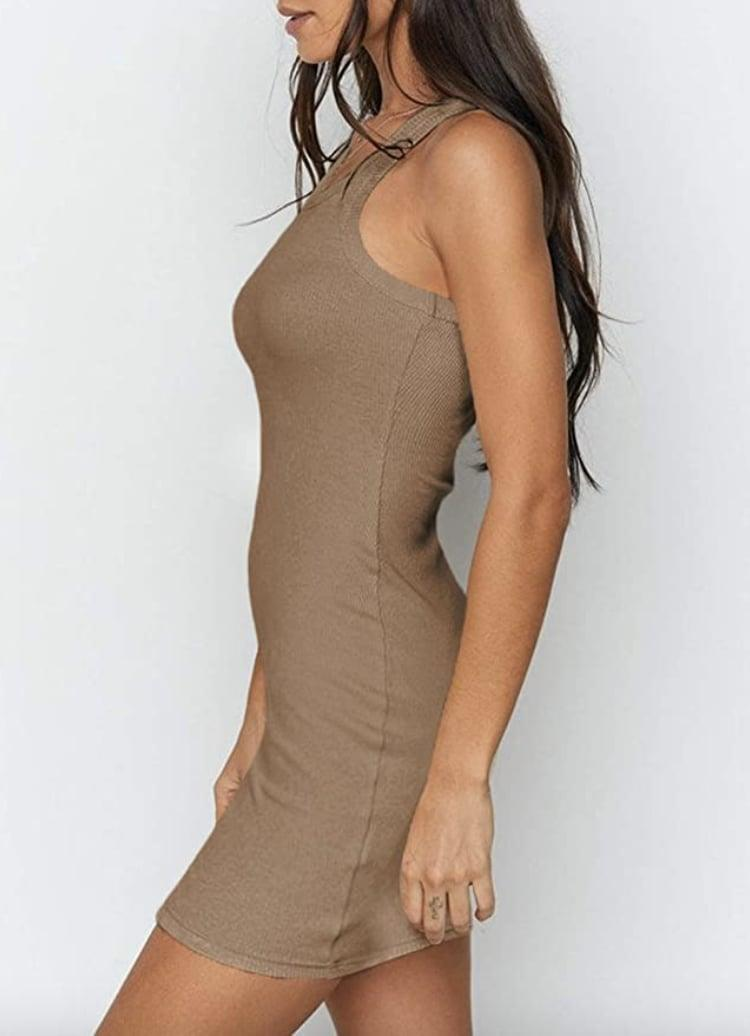 <p>Wear this comfy <span>Samefar Ribbed Scoop Neck Tank Dress</span> ($20) on long road trips.</p>