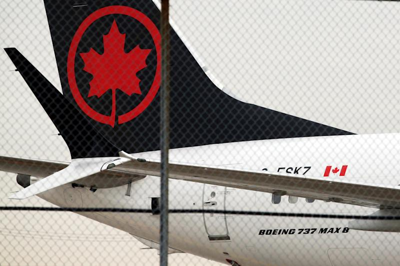 An Air Canada Boeing 737 MAX 8 aircraft is seen on the ground at Toronto Pearson International Airport in Toronto, Ontario, Canada, March 13, 2019. REUTERS/Chris Helgren