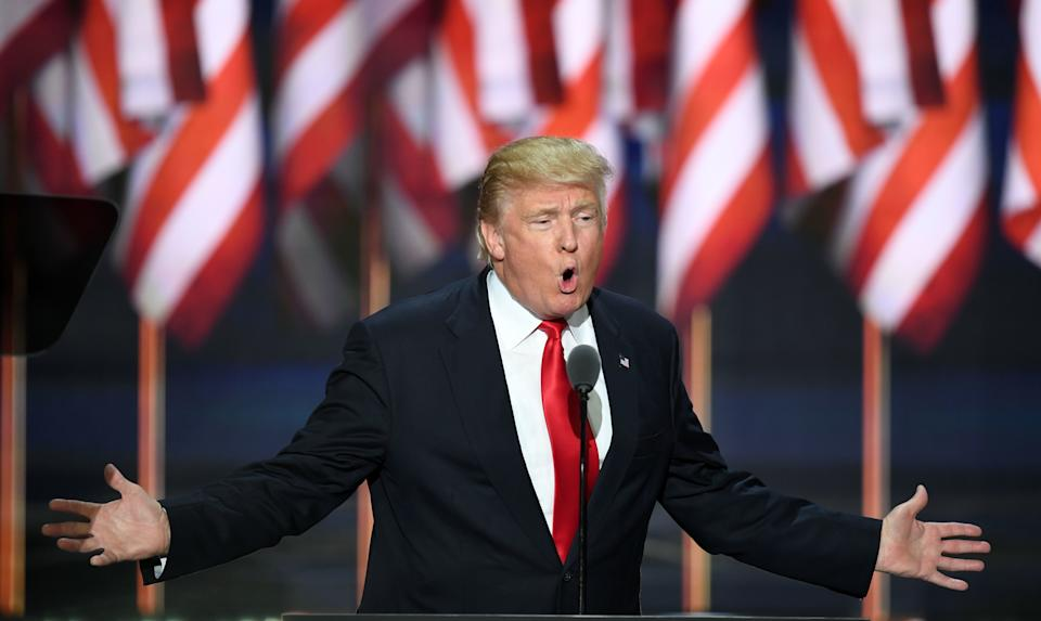 """At the Republican National Convention: """"Tonight, I want every American whose demands for immigration security have been denied ― and every politician who has denied them ― to listen very closely to the words I am about to say. On January 21st of 2017, the day after I take the oath of office, Americans will finally wake up in a country where the laws of the United States are enforced."""""""