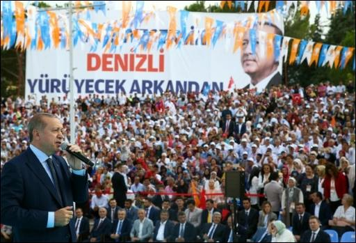 Erdogan am Samstag in Denizli