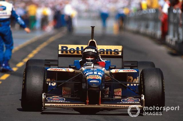 "Ganador Damon Hill, Williams FW18 Renault <span class=""copyright"">Sutton Motorsport Images</span>"