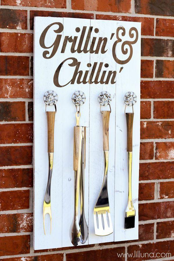 """<p>Every grill master needs a place to hang his trusty tools. Plus, this DIY gift is way easier to make than it looks. </p><p><strong>Get the tutorial at <a href=""""http://lilluna.com/grill-set-holder/"""" rel=""""nofollow noopener"""" target=""""_blank"""" data-ylk=""""slk:Lil' Luna"""" class=""""link rapid-noclick-resp"""">Lil' Luna</a>.</strong> </p><p><a class=""""link rapid-noclick-resp"""" href=""""https://www.amazon.com/Minwax-230004444-Drying-Polyurethane-Gloss/dp/B000LNQVXQ?tag=syn-yahoo-20&ascsubtag=%5Bartid%7C10050.g.1171%5Bsrc%7Cyahoo-us"""" rel=""""nofollow noopener"""" target=""""_blank"""" data-ylk=""""slk:SHOP WOOD GLOSS"""">SHOP WOOD GLOSS</a></p>"""