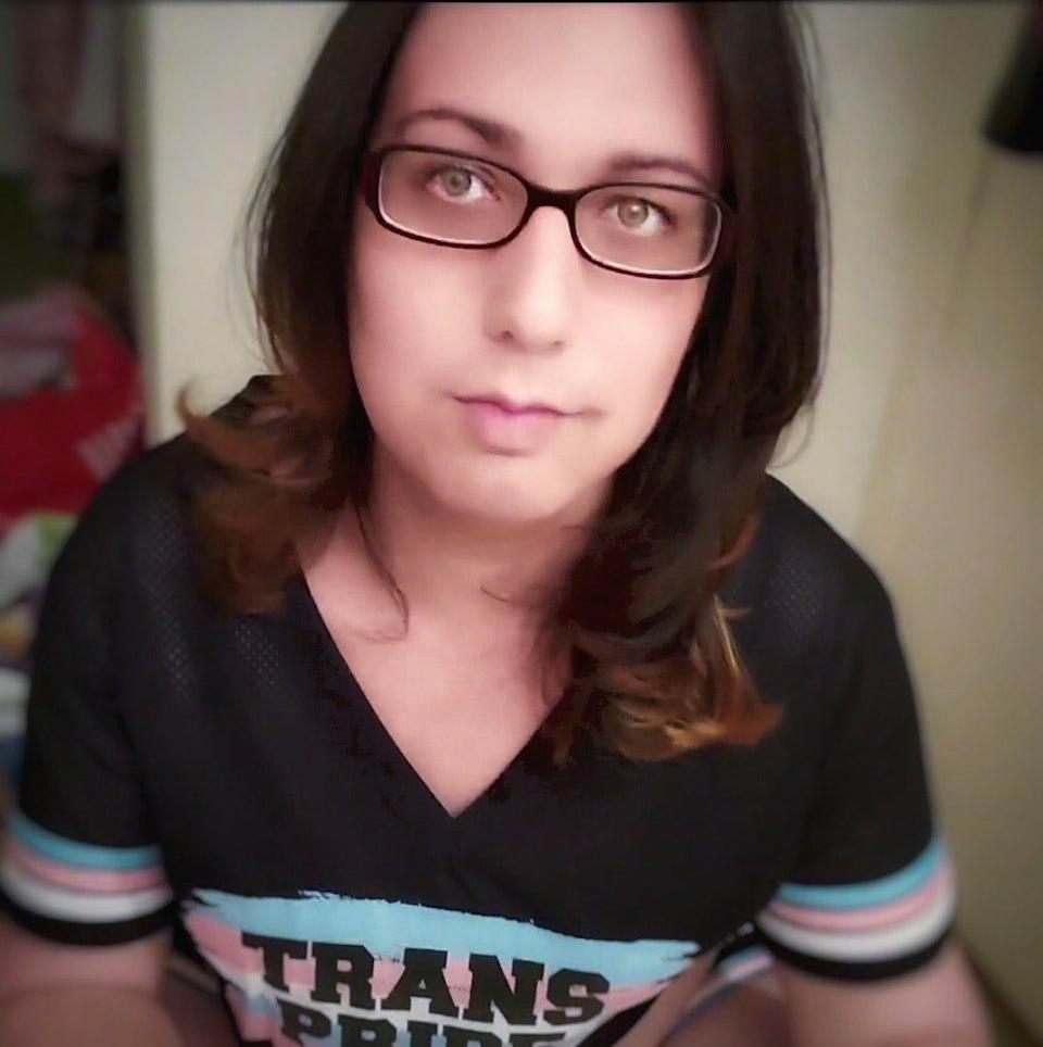 """""""Being transgender is not a medical condition,"""" Persephone Rose, a 28-year-old nonbinary transgender woman (pictured) says.It's only something that you can discover for yourself."""
