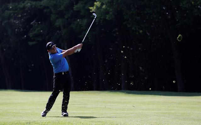 Golf - European Tour - BMW PGA Championship - Wentworth Club, Virginia Water, Britain - May 26, 2018 Italy's Francesco Molinari in action during the third round Action Images via Reuters/Paul Childs
