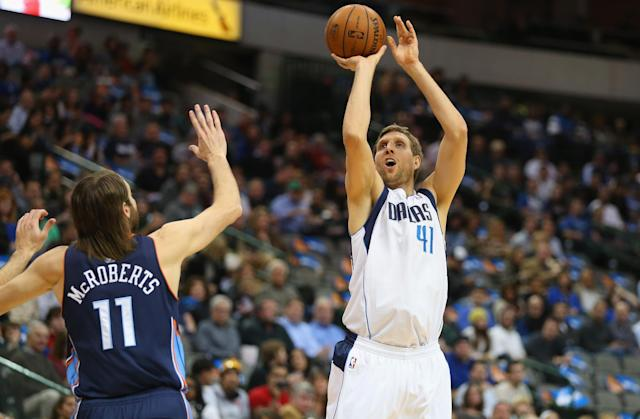 Nowitzki's strong finish leads Mavs over Bobcats