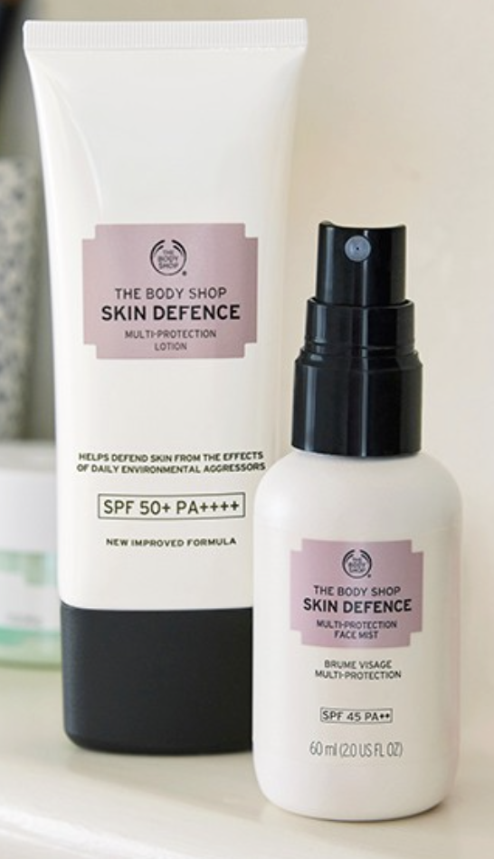 The Body Shop Skin Defence Multi-Protection Face Mist SPF45 PA++ (Photo: Shopee)