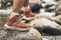 """<p>""""With just one more month of summer left, I've been taking advantage of the longer days with more hikes. HOKA ONE ONE sent me a pair of their newest hiking shoe, the <span>Anacapa Mid</span>($170), to test out and it combines the lightweight feel of a running shoe with the support of a hiking boot. I love how comfortable these are and that they feature Gore-Tex to keep my feet dry. Compared to other hiking shoes I've tried, these felt much more cushioned and kept my feet feeling ready to log extra miles."""" - Genevieve Farrell Roston, Fitness and Wellness Director, Video</p>"""
