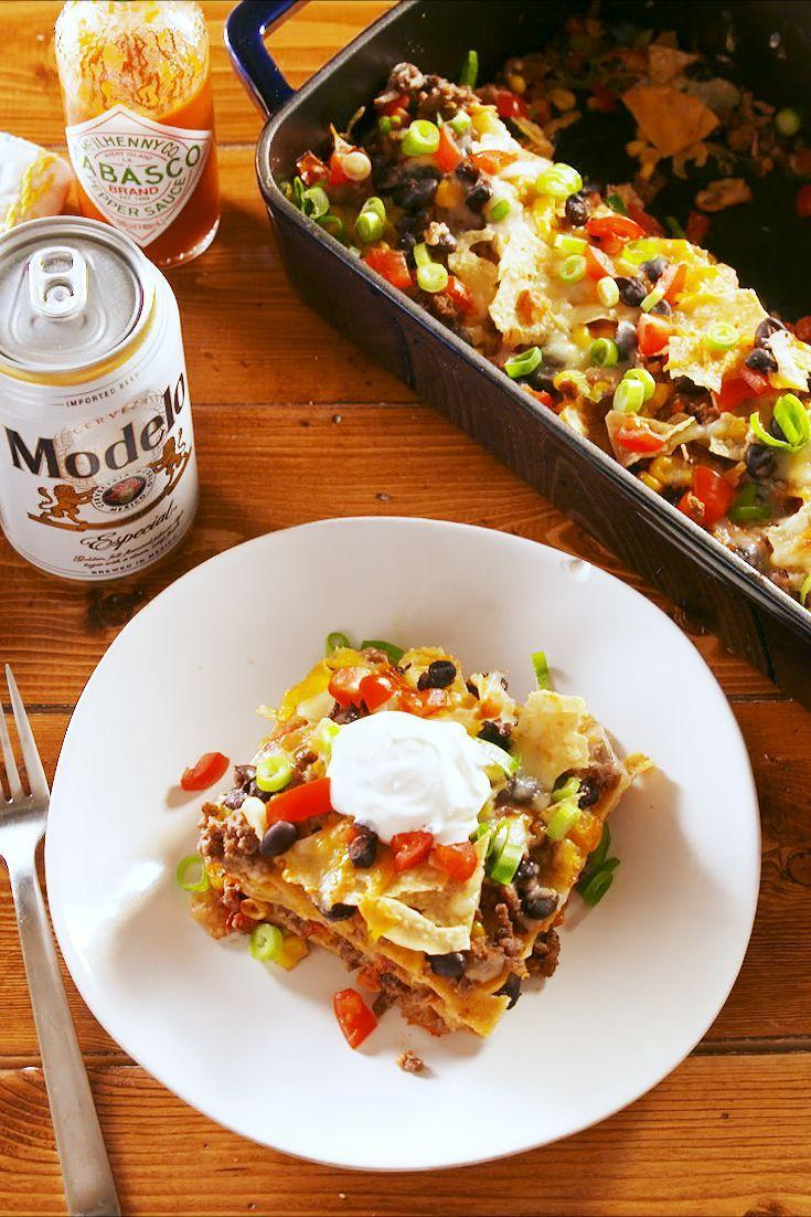 "<p>The absolutely-no-fuss way to serve tacos.</p><p>Get the recipe from <a href=""https://www.delish.com/cooking/recipe-ideas/a25480123/taco-casserole-recipe/"" rel=""nofollow noopener"" target=""_blank"" data-ylk=""slk:Delish"" class=""link rapid-noclick-resp"">Delish</a>.</p>"