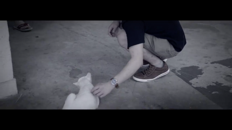 Screenshot of 'If Yishun were a movie' video: a supposed 'cat-killer' in Yishun (Photo: JUO Productions)