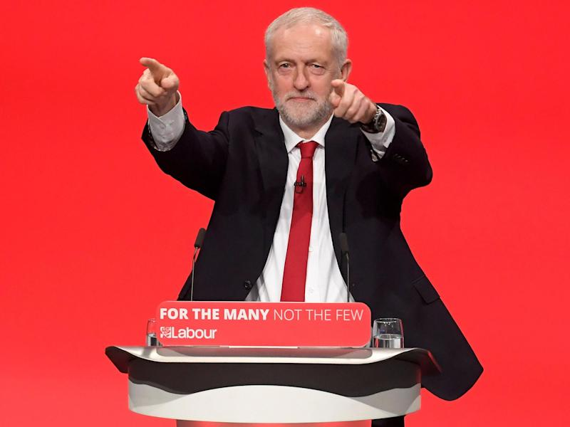 Mr Corbyn said Labour was a 'government in waiting' and was ready to 'take up the responsibility for Brexit negotiations' following June's shock election result: Reuters/Toby Melville