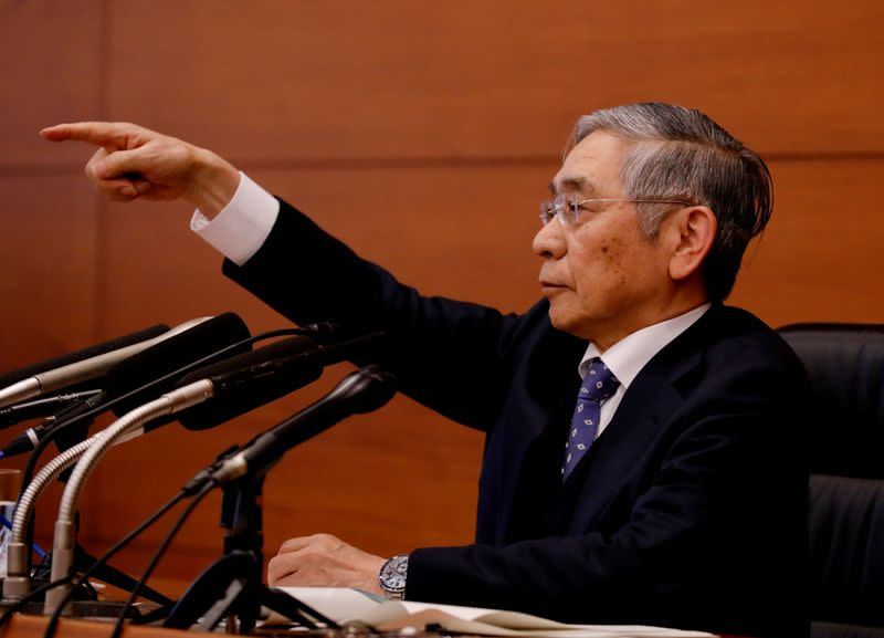 BOJ's Kuroda says Japan economy likely contracted fourth-quarter last year on typhoons