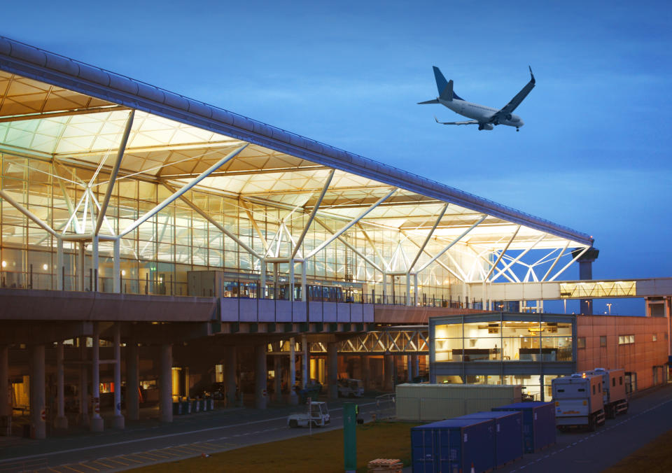 Stansted airport by twilight, London, UK. See my similar photos:
