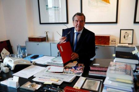 Former German Chancellor Gerhard Schroeder is pictured during an interview with Reuters in his office in Berlin, Germany, November 15, 2018. Picture taken November 15, 2018. REUTERS/Fabrizio Bensch