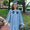 """Katie Couric made a special shoutout to her youngest daughter to congratulate her for earning her master's degree in journalism from Columbia University. """"Hey Ms. Masters in Journalism. 'Freedom of the press is not just important to democracy. It is democracy.' -Walter Cronkite. Congratulations Carrie!"""" Couric <a href=""""https://www.instagram.com/p/BxyeapEl_Op/"""" rel=""""nofollow noopener"""" target=""""_blank"""" data-ylk=""""slk:captioned"""" class=""""link rapid-noclick-resp"""">captioned</a> a snapshot of Monahan posing in her cap and gown. """"You never cease to amaze me and amuse me. ❤️ 👩🎓 🎓 💻 ✏️ 📓#graduation#proudmama #columbia"""""""