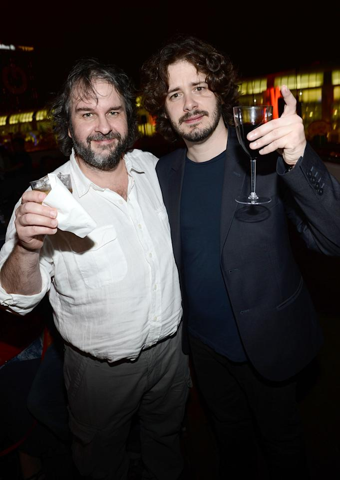 SAN DIEGO, CA - JULY 14:  Directors Peter Jackson (L) and Edgar Wright attend Entertainment Weekly's 6th Annual Comic-Con Celebration sponsored by Just Dance 4 held at the Hard Rock Hotel San Diego on July 14, 2012 in San Diego, California.  (Photo by Michael Buckner/Getty Images for Entertainment Weekly)