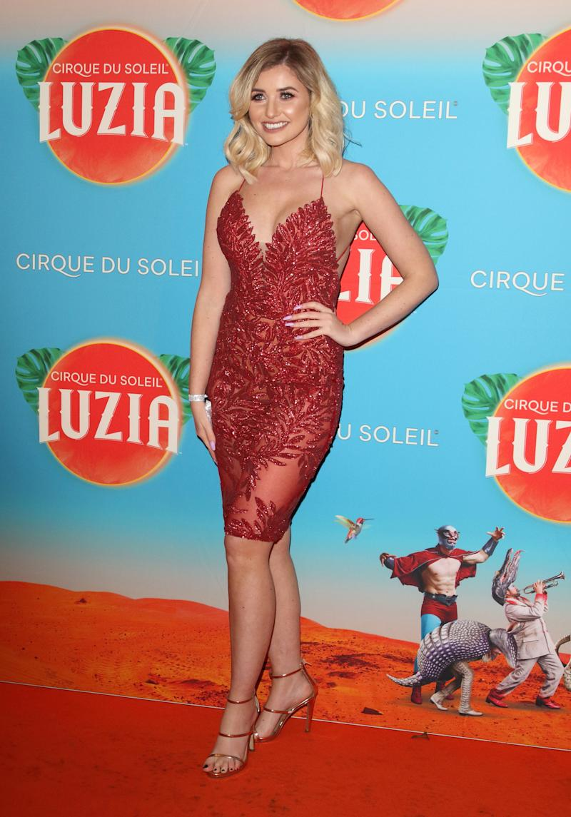 LONDON, UNITED KINGDOM - JANUARY 15, 2020: Amy Hart at the Cirque du Soleil Luzia Press Night at the Royal Albert Hall, Kensington.- PHOTOGRAPH BY Keith Mayhew / Echoes Wire/ Barcroft Media (Photo credit should read Keith Mayhew / Echoes Wire / Barcroft Media via Getty Images)