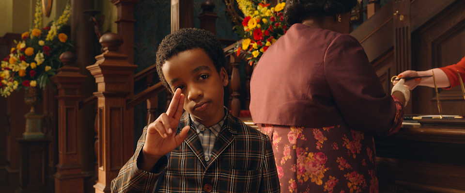 A boy (Jahzir Kadeem Bruno) is sent off to live with his grandmother, Agatha (Octavia Spencer), following the untimely death of his parentsWarner Bros