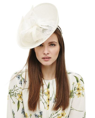 Cream Kate flower trim fascinator, Phase Eight, £39. Available on Debenhams.com
