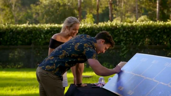 Matt and Helena's date turned intense when he asked the 25-year-old what her ten-year plan was. Photo: Network 10