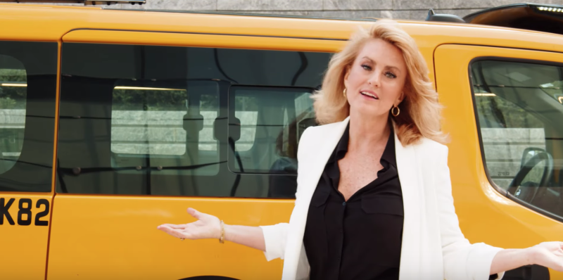 Ann Cutbill Lenane, a successful New York City realtor, has placed a dating ad in city taxi cabs. (Photo: YouTube)