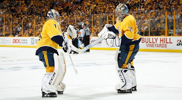 This has been an all too familiar sight for the Predators this postseason. (Getty)