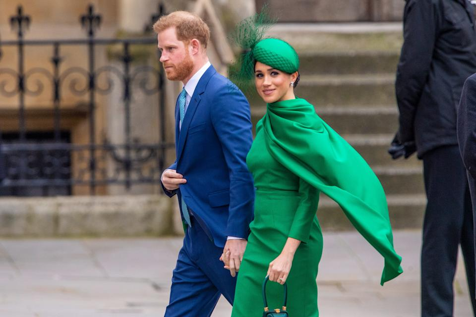 On March 31, Prince Harry and Meghan Markle, the Duke and Duchess of Sussex will be quitting as senior royals and along with that, stop using their HRH styles and no longer be able to have Sussex Royal as their brand. Together with their baby son Archie they are partly going to live in either Canada or the United States, where they want to become financially independent. (Photo by DPPA/Sipa USA)