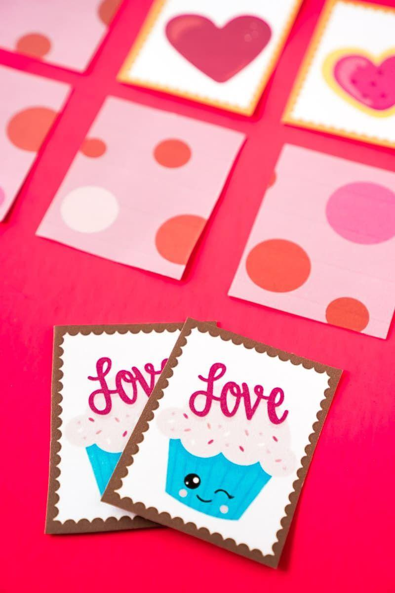 """<p>This cute card game will keep your little ones entertained for hours as they try to get as many matches as possible.</p><p><strong>Get the tutorial at <a href=""""https://www.playpartyplan.com/valentine-memory-games/"""" rel=""""nofollow noopener"""" target=""""_blank"""" data-ylk=""""slk:Play Party Plan"""" class=""""link rapid-noclick-resp"""">Play Party Plan</a>.</strong></p><p><strong><strong><strong><a class=""""link rapid-noclick-resp"""" href=""""https://www.amazon.com/Neenah-80944-01-Astrobrights-Colored-Cardstock/dp/B01LX0UJBN/?tag=syn-yahoo-20&ascsubtag=%5Bartid%7C10050.g.25916974%5Bsrc%7Cyahoo-us"""" rel=""""nofollow noopener"""" target=""""_blank"""" data-ylk=""""slk:SHOP CARD STOCK"""">SHOP CARD STOCK</a></strong></strong><br></strong></p>"""