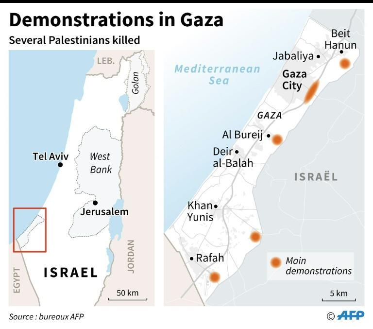 The main demonstrations in Gaza