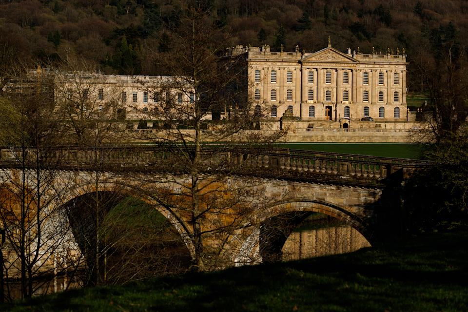 A general view of Chatsworth House in Bakewell, Derbyshire