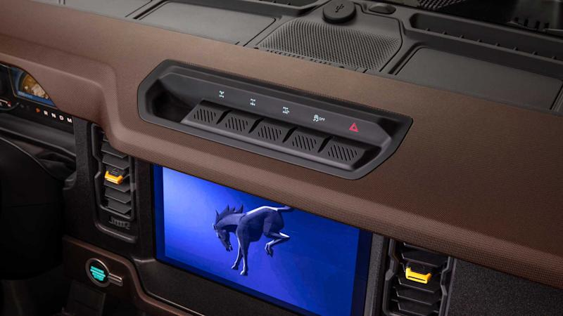 2021 Ford Bronco interior infotainment screen and buttons