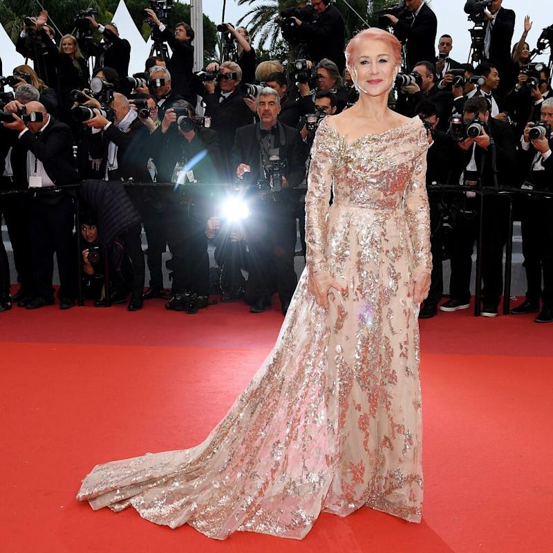 Su vestido era golden rose, el tono estrella de 2019 (Photo by Pascal Le Segretain/Getty Images)