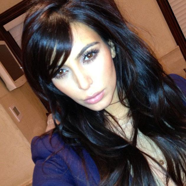 Celebrity Twitpics: Kim Kardashian changed her hair cut this week, by getting a subtle side fringe. She tweeted this picture of the new 'do.