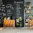 """<p><strong>West Elm</strong></p><p>westelm.com</p><p><strong>$69.00</strong></p><p><a href=""""https://go.redirectingat.com?id=74968X1596630&url=https%3A%2F%2Fwww.westelm.com%2Fproducts%2Fchalkboard-removable-wallpaper-d8334&sref=https%3A%2F%2Fwww.cosmopolitan.com%2Flifestyle%2Fg36642727%2Fbacksplash-ideas%2F"""" rel=""""nofollow noopener"""" target=""""_blank"""" data-ylk=""""slk:Shop Now"""" class=""""link rapid-noclick-resp"""">Shop Now</a></p><p>Imagine all of the things you can write on here! Grocery lists, recipes, """"Mrs. Harry Styles"""", etc. </p>"""