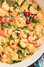 """<p>Tuscan butter makes everything better, especially prawns. The sauce is so good, you'll be tempted to eat it straight out of the pan, and we wouldn't blame you.</p><p>Get the <a href=""""https://www.delish.com/uk/cooking/recipes/a30039033/tuscan-butter-shrimp-recipe/"""" rel=""""nofollow noopener"""" target=""""_blank"""" data-ylk=""""slk:Tuscan Butter Prawns"""" class=""""link rapid-noclick-resp"""">Tuscan Butter Prawns</a> recipe.</p>"""