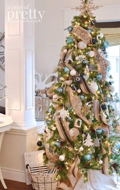 """<p>Have yourself a Parisian Christmas with this French inspired decorated tree, adorned with black, white, and peacock blue accents.</p><p><strong><em>Get the tutorial at <a href=""""https://apopofpretty.com/french-inspired-christmas-decor-black-white-peacock-blue/"""" rel=""""nofollow noopener"""" target=""""_blank"""" data-ylk=""""slk:A Pop of Pretty"""" class=""""link rapid-noclick-resp"""">A Pop of Pretty</a>.</em></strong></p><p><a class=""""link rapid-noclick-resp"""" href=""""https://www.amazon.com/Perfect-Holiday-Handpainted-Shatterproof-Christmas/dp/B00NM2TXP6/?tag=syn-yahoo-20&ascsubtag=%5Bartid%7C10070.g.2025%5Bsrc%7Cyahoo-us"""" rel=""""nofollow noopener"""" target=""""_blank"""" data-ylk=""""slk:BUY PEACOCK ORNAMENTS"""">BUY PEACOCK ORNAMENTS</a><br></p>"""