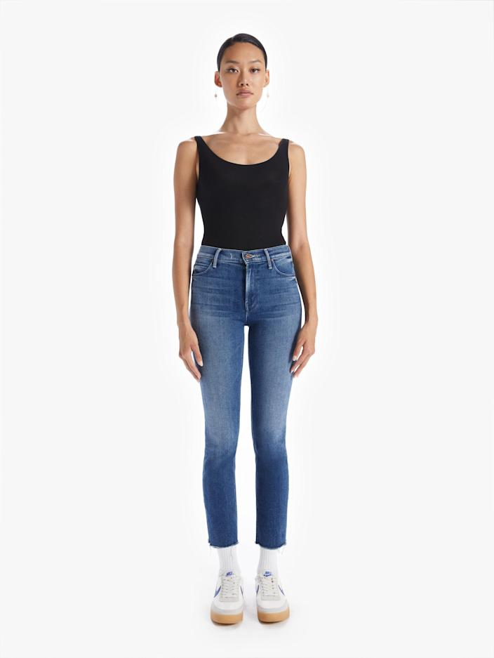 """<p><strong>Mother Denim</strong></p><p>motherdenim.com</p><p><strong>$228.00</strong></p><p><a href=""""https://go.redirectingat.com?id=74968X1596630&url=https%3A%2F%2Fwww.motherdenim.com%2Fproducts%2Fmid-rise-dazzler-crop-fray-were-all-in-this-together&sref=https%3A%2F%2Fwww.townandcountrymag.com%2Fstyle%2Fbeauty-products%2Fg19408606%2Fgift-ideas-for-women%2F"""" rel=""""nofollow noopener"""" target=""""_blank"""" data-ylk=""""slk:Shop Now"""" class=""""link rapid-noclick-resp"""">Shop Now</a></p><p>A classic pair of jeans that is cropped at the ankle is a wardrobe essential for every woman, no matter her age. </p>"""