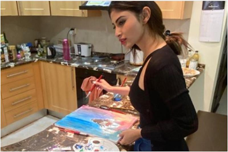 Mouni Roy Paints Stunning Portraits of Lord Shiva During COVID-19 Lockdown
