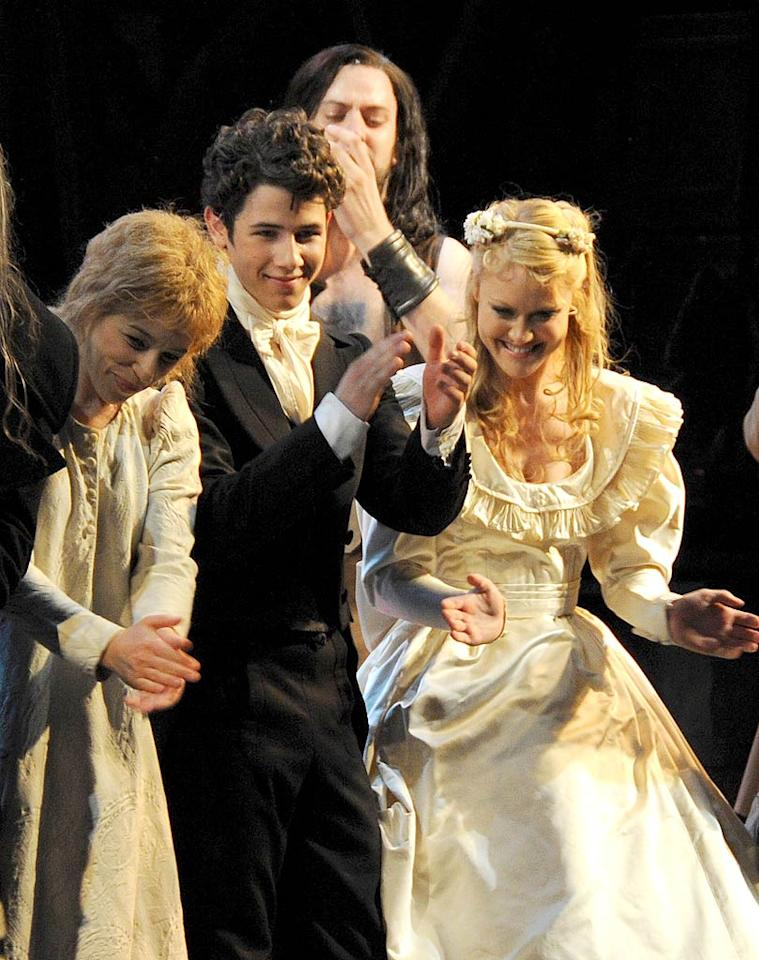 """The youngest Jonas Brother, Nick, made his West End debut in the London production of """"Les Miserables"""" Monday. The 17-year-old will play the role of Marius until July 10. Dave M. Benett/<a href=""""http://www.gettyimages.com/"""" target=""""new"""">GettyImages.com</a> - June 21, 2010"""