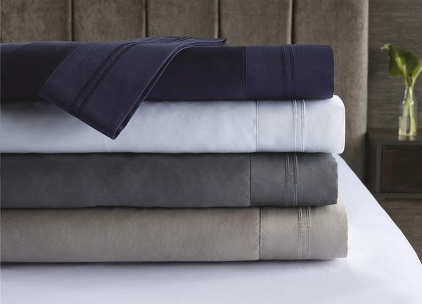 The 410 thread count fitted sheet set comes in queen ($59.99) and king sizes ($69.99). Photo: supplied.