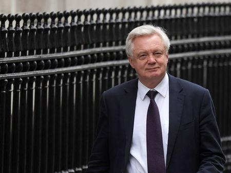FILE PHOTO: Britain's Secretary of State for Exiting the European Union David Davis leaves Downing Street, London