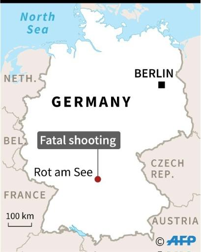 The shooting took place near the train station at Rot am See, a town of 5,200 residents near Stuttgart, capital of Baden-Wuerttemberg state