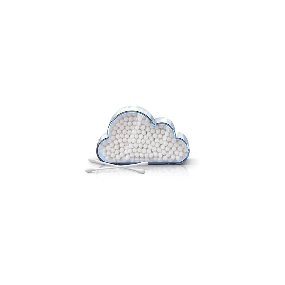 """<h2>Fred Cloud Catcher Cotton Swab Holder<br></h2><br>We recognize that a cotton-swab holder doesn't sound like the most exciting gift, but how about one that arranges all of your cotton swabs into a neat, peaceful cloud formation?<br><br><strong>Fred</strong> CLOUD CATCHER Cotton Swab Holder, $, available at <a href=""""https://www.amazon.com/dp/B00OVRQZMK"""" rel=""""nofollow noopener"""" target=""""_blank"""" data-ylk=""""slk:Amazon"""" class=""""link rapid-noclick-resp"""">Amazon</a>"""