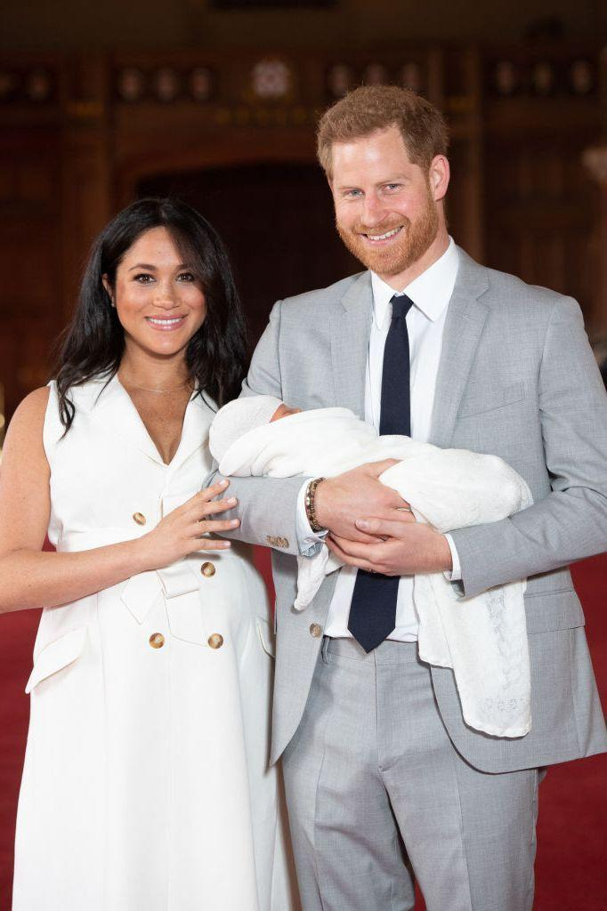 <p>It might not be protocol, but it certainly is tradition for royal women to do a photo shoot outside of the famous Lindo Wing after giving birth. Instead, Meghan and Harry posed for photographers with their newborn son a couple of days after welcoming him at St. George's Hall. </p>
