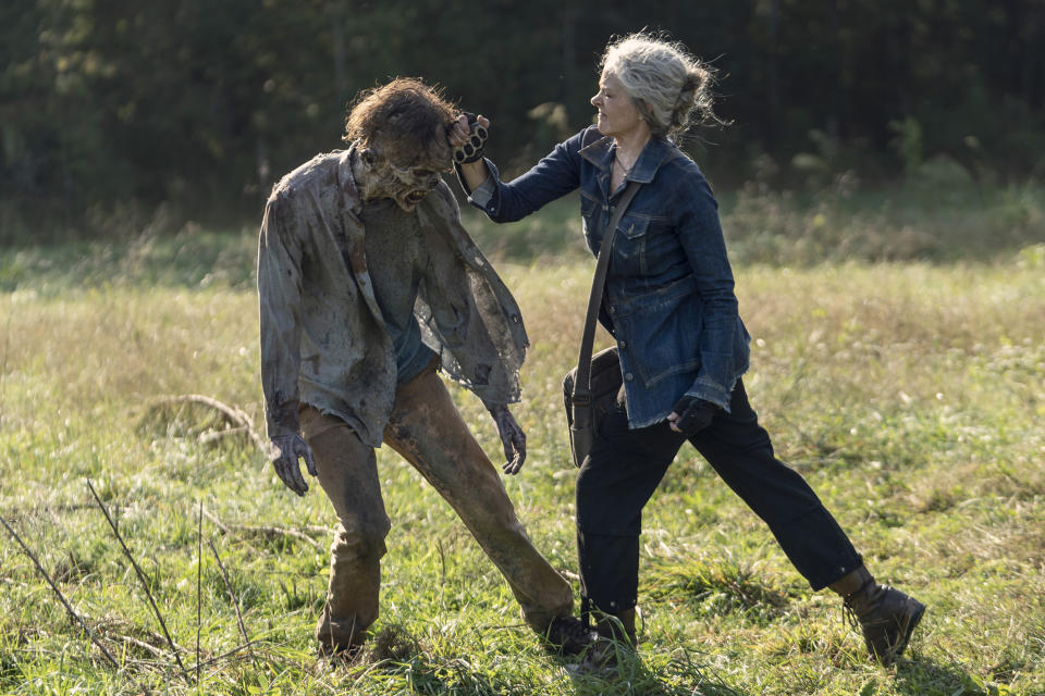 Melissa McBride as Carol Peletier - The Walking Dead _ Season 10, Episode 21 - Photo Credit: Eli Ade/AMC